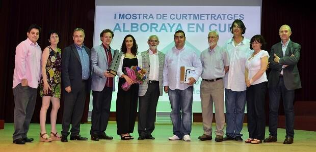 Premiados, organizadores e invitados en la gala final de Alboraya en Curt