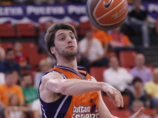 Stefan Markovic con la camiseta del Valencia Basket. Foto: M.A. Polo