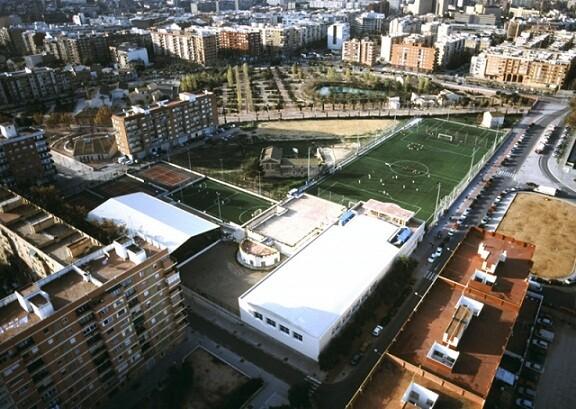 Vista aérea del Parque de Marxalenes, donde está ubicado el Centro Ocupacional del mismo nombre.