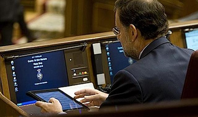 Rajoy_iPad