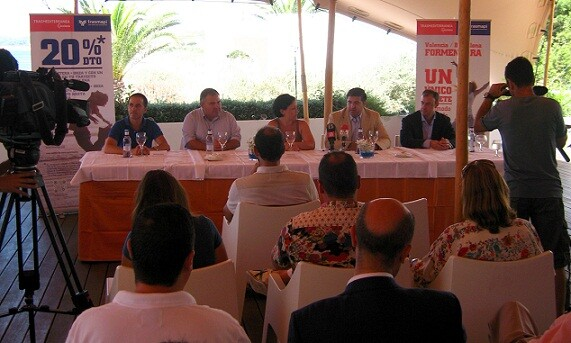 Presentación del acuerdo entre Trasmapi y Trasmediterránea en Formentera/Trasmediterránea