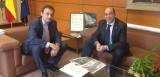 Reunión del alcalde de Xirivella con Jorge Urrecho. Foto: Hortanoticias.com