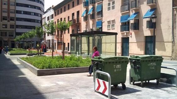 Zona de Velluters por donde hay dos accesos al aparcamiento de Parcent
