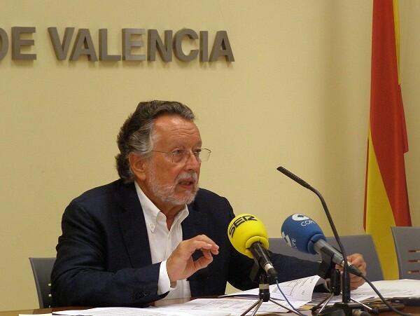 El vicealcalde Alfonso Grau en la rueda de prensa/ayto vlc