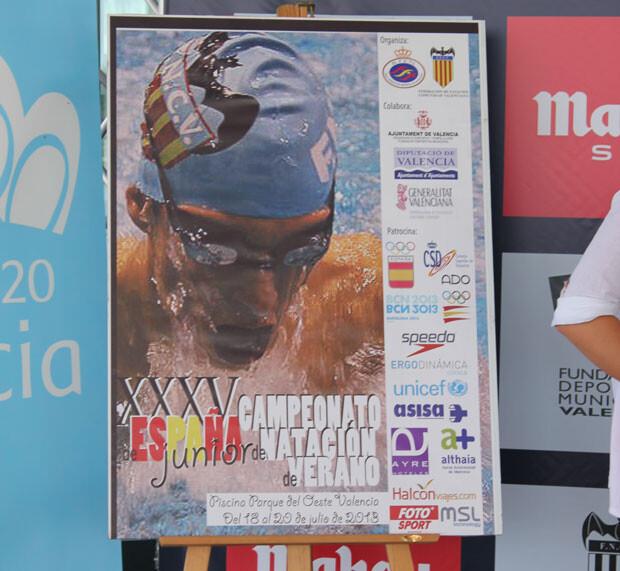 Cartel del Campeonato de España Junior de Natación. Foto: Javier Furió