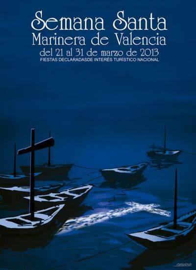 Cartel anunciador de la Semana Santa Marinera de Valencia, 2013