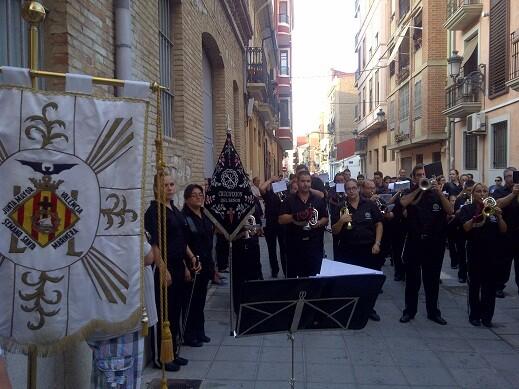 Una acto de la Semana Santa Marinera que promovió la junta mayor/p.varea