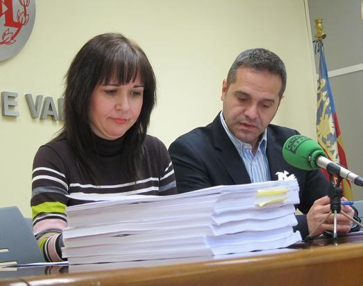 Rosa Albert con el portavoz Amadeu Sanchis/eu