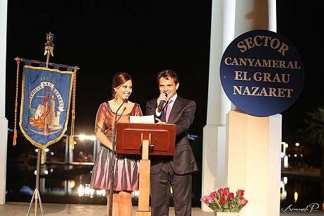 Los presentadores del acto del sector Canyamelar-Grau-Nazaret/a.romero