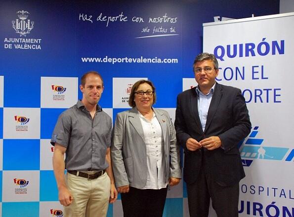 El responsable del Club Antares, la presidenta de la federación y el edil de Deportes/ayto vlc