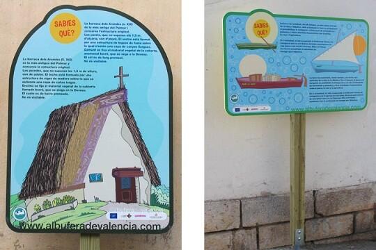 Unos carteles explican al visitante detalles de la zona por donde pasea/ayto vlc