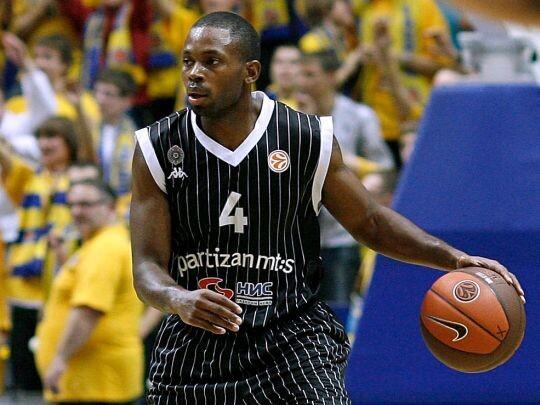 Oliver Lafayette, en su etapa en el Partizan. Foto: Getty images / Euroleague.
