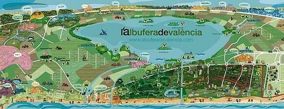 El mapa de la Albufera también se distribuye en la zona/ayto vlc