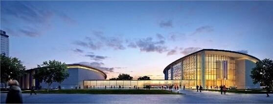 Imagen virtual de como quedaría la ampliación del Palacio de Congresos cuya aprobación se aplaza/ayto vlc