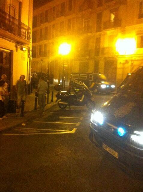 Las unidades policiales pidieron a varios manifestantes la identificación y cargaron contra varios grupos/v.s.