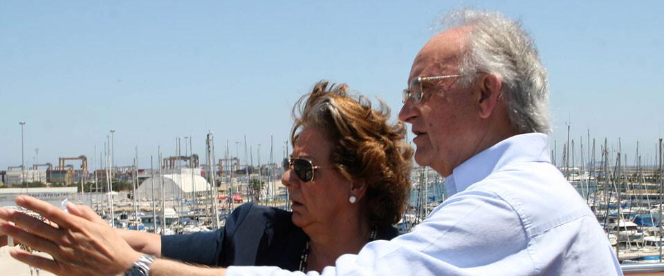 Rita Barberá muestra a Alejandro Blanco las instalaciones del RCN Valencia. Foto: Pilar Val