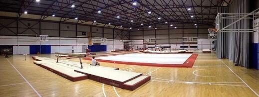 Sala contigua al pabellón central donde tendrán lugar los entrenamientos
