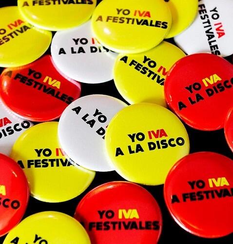 Las chapas que llevarán los trabajadores de los locales de ocio y discotecas en la noche del sábado/ado