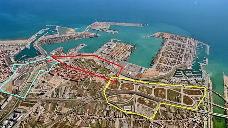 Vista aérea de la Zona de Actividades Logísticas en La Punta que sigue sin ejecutarse