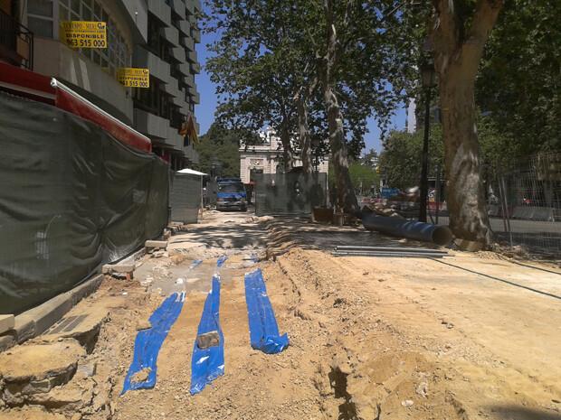 Obras de renovación de la red de agua potable y riego en Navarro Reverter. Foto: CREM Valencia
