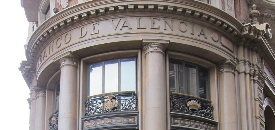 Banco de Valencia. Edificio central. Letrero