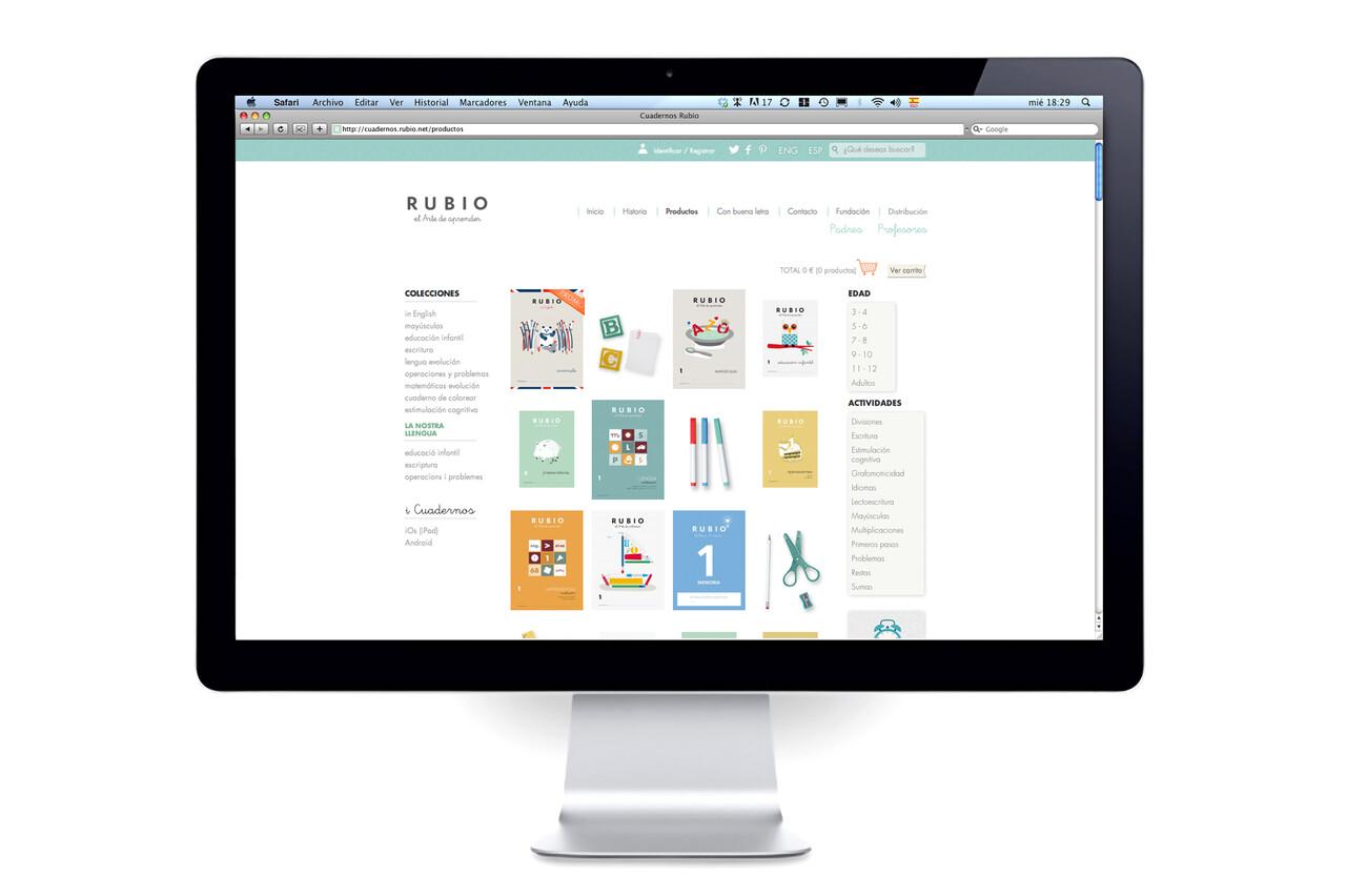 Rubio web-productos