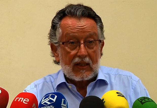 Alfonso Grau, en rueda de prensa hoy lunes.