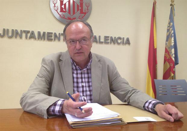 Félix Estrela, en una comparecencia en el Ayuntamiento. Foto: PSPV - PSOE