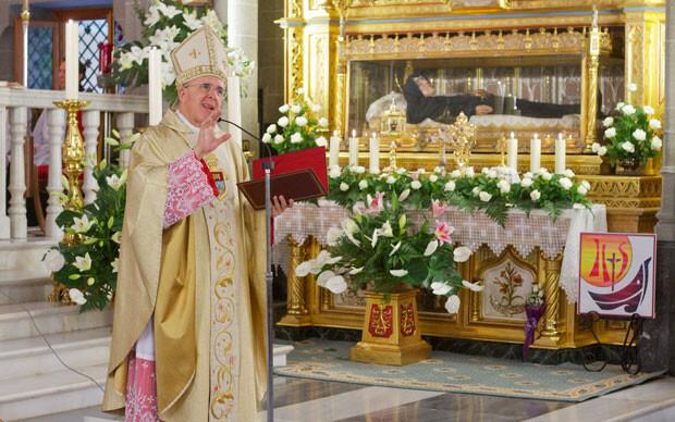 Monseñor Osoro durante la homilía. Foto: V. Gutiérrez / AVAN