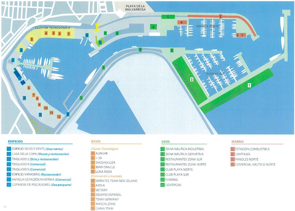 Plan de Usos de la Marina Real. Plano general
