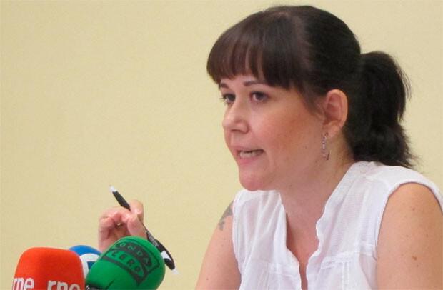 Rosa Albert en una comparecencia en el Ayuntamiento de Valencia