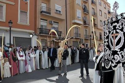 La Hermandad del Stmo. Cristo de la Palma, en procesión