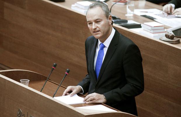 Alberto Fabra en el debate de política general, en Les Corts.