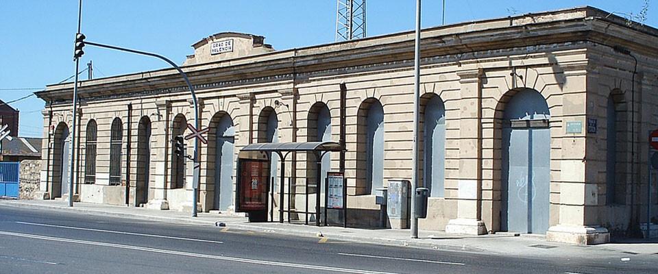 Antigua estación del Grao, en su estado actual. Foto: Carles Andreu