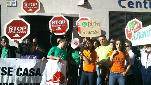 Movilización vecinal y de la plataforma Stop Desahucios. Foto de archivo