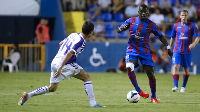 Babá Diawara abrió el marcador para el Levante UD. Foto: Jorge Ramírez / Levante UD