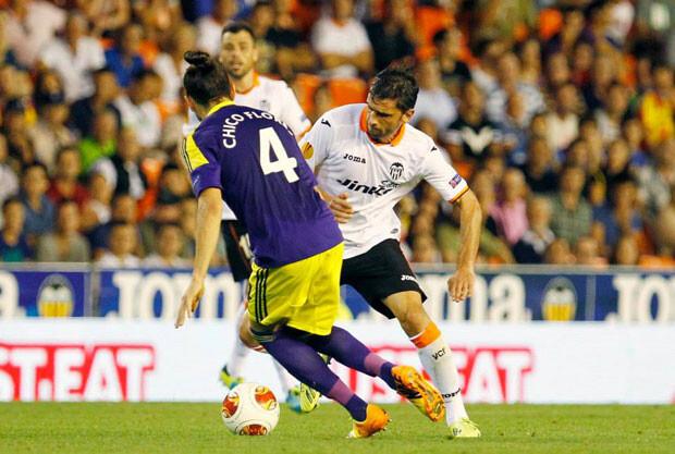 Hélder Postiga pasó desarpercibido. Foto: Valencia CF