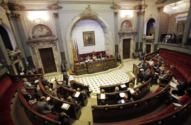 Pleno del Ayuntamiento de Valencia. Foto de archivo