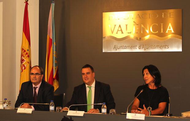 Un momento de la presentación del curso itinerante de Ajedrez de la Diputación de Valencia. Foto: Javier Furió