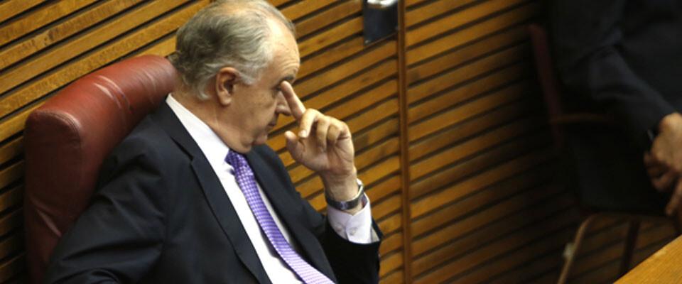 Rafael Blasco, la soledad del diputado no adscrito en Les Corts. Foto: Manuel Molines