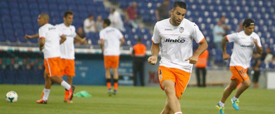 Rami, en un entrenamiento con el primer equipo. Foto: Valencia CF