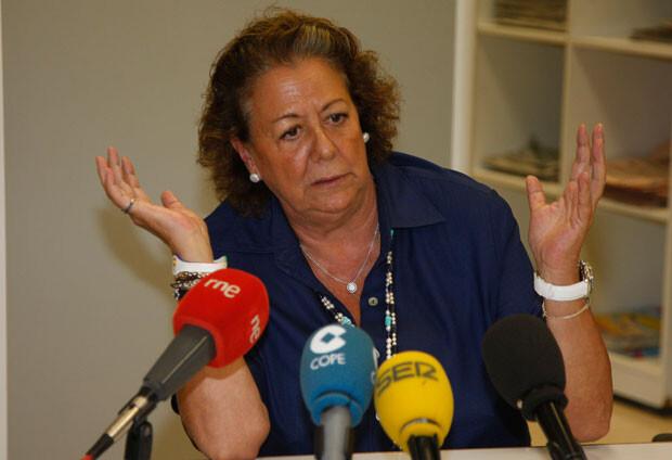 Rita Barberá, en su encuentro ante los medios hoy. Foto: Ayuntamiento de Valencia