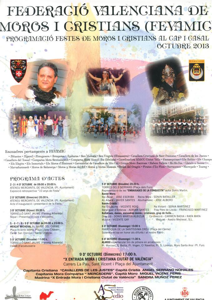 Programa de Festes de Moros i Cristians al Cap i Casal, 2013