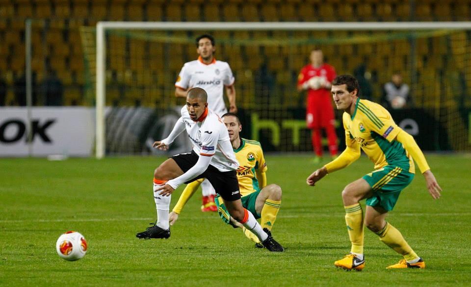Feghouli, cuestionado en Mestalla, selló su titularidad en Rusia con un gol en las postrimerías del encuentro. Foto: Valencia CF