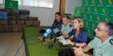 Paula Sánchez de León, acompañada por los mandos de la Guardia Civil, explica a los medios de comunicación los detalles de la operación contra la distribución de hachís.