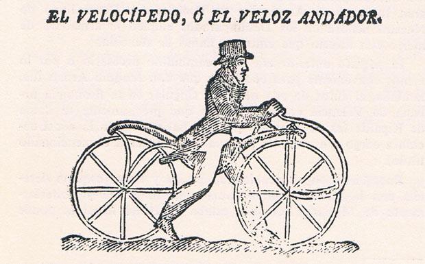 El velocípedo. Diario de Valencia. Mayo, 1819. A.P.R.S.