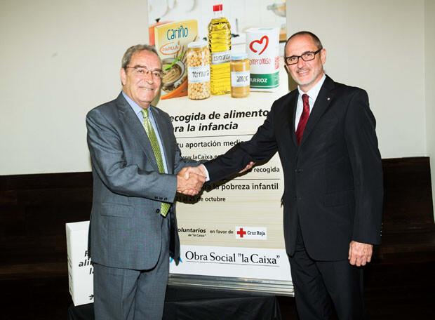 Recogida de Alimentos para la Infancia. Sr. Lanaspa y Sr. Bruel sellan el acuerdo.