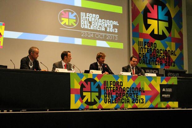 Serrahima,Ferrero. Mateo Castella y Bailach en el Foro Internacional del Deporte. Foto: Francisco Estellés.