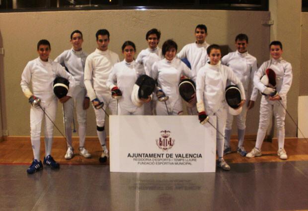 Tiradores cadetes de la Sala d'Armes València.