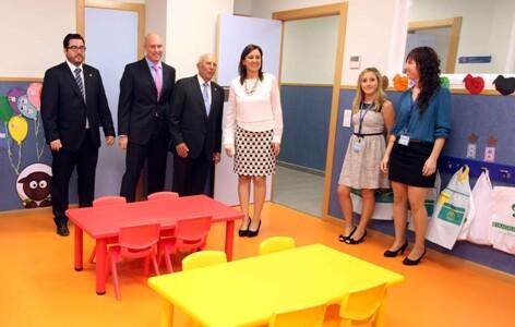 María José Catalá, en el acto de inauguración del nuevo Colegio Camarena Canet del municipio de Canet d´en Berenguer